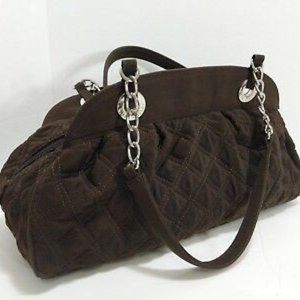 Brown Vera Bradley Quilted Bag